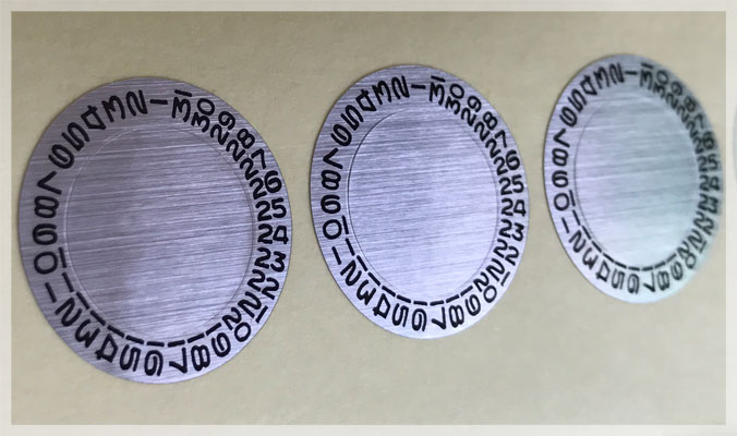 Brushed Chrome Metallic Stickers