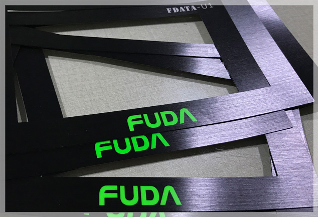 Brushed Polycarbonate Stickers