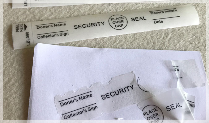Clear Destructible Vinyl Security Seal Labels