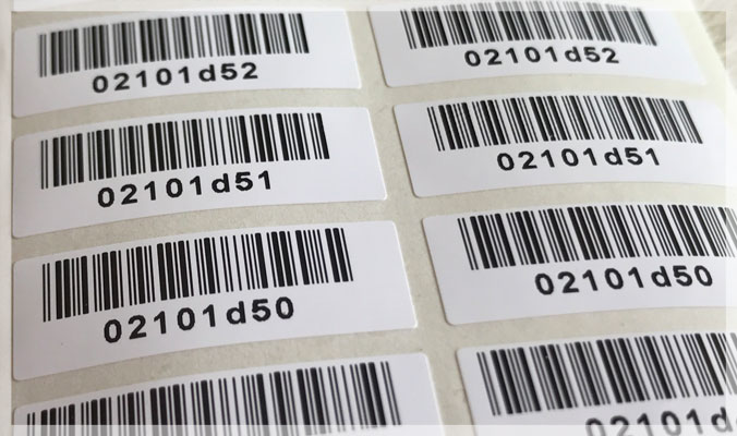 Consecutive Barcode Stickers