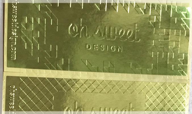 Custom Embossed Stickers