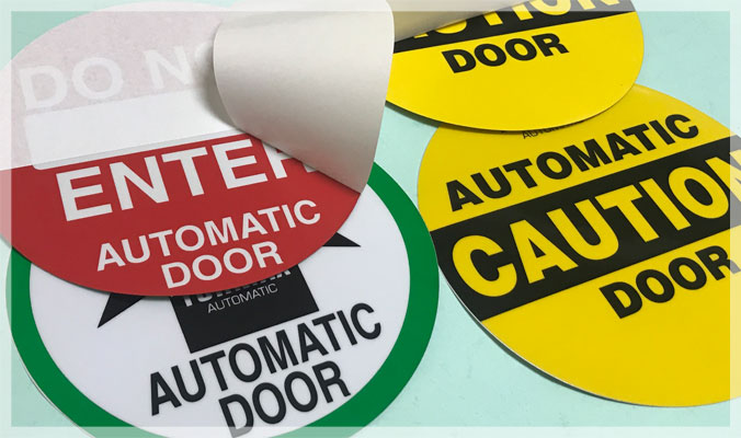 Double Sided Door Stickers