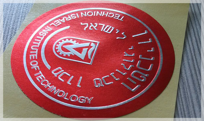 Embossed Printed Stickers
