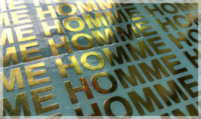 Gold Color Electroformed Foil Stickers