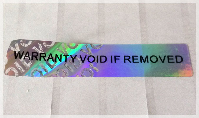 Holographic Tamper Evident VOID Stickers
