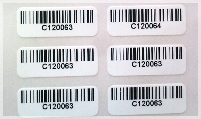 Paper Serial Number Stickers