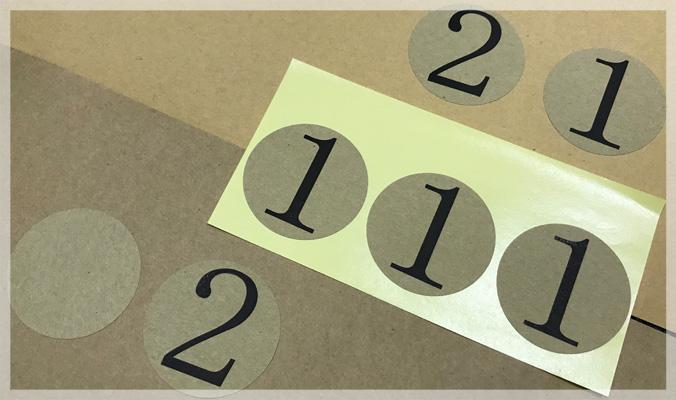Personalized Kraft Paper Sticker Printing