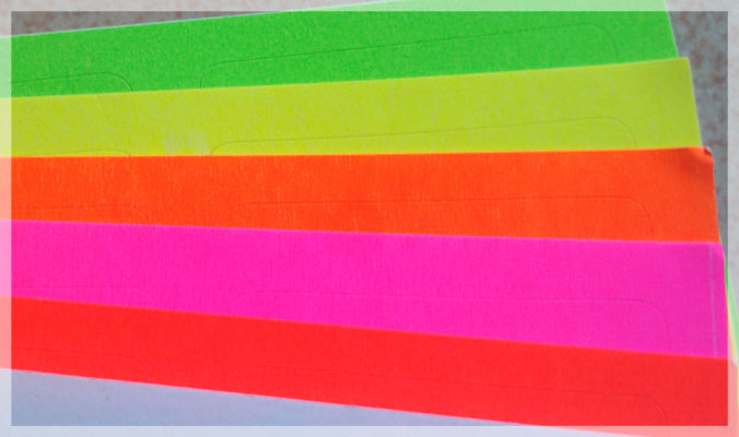 Self Adhesive Fluorescent Stickers
