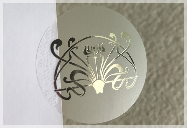 Silver Foil Stamping Clear Labels