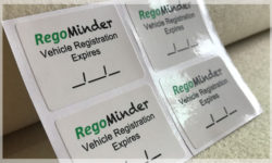 Service Reminder Stickers