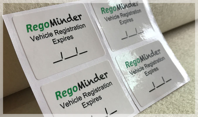 Static Cling Service Reminder Stickers