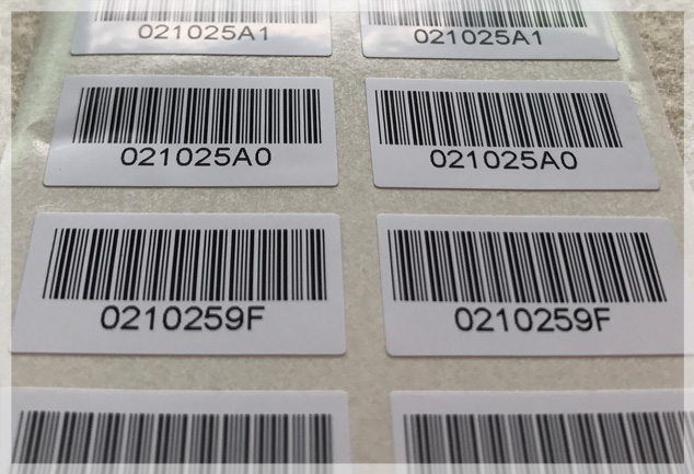 Variable Data Barcode Stickers